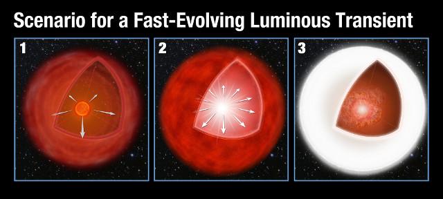 Scenario of a FELT event (Image NASA, ESA, and A. Feild (STScI) )