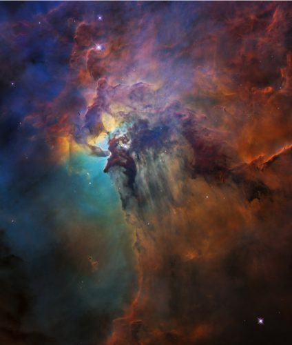 The Lagoon Nebula at visible light (Image NASA, ESA, and STScI)