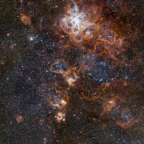 The Tarantula Nebula and its A crowded neighborhood for the Tarantula Nebula (Image ESO)