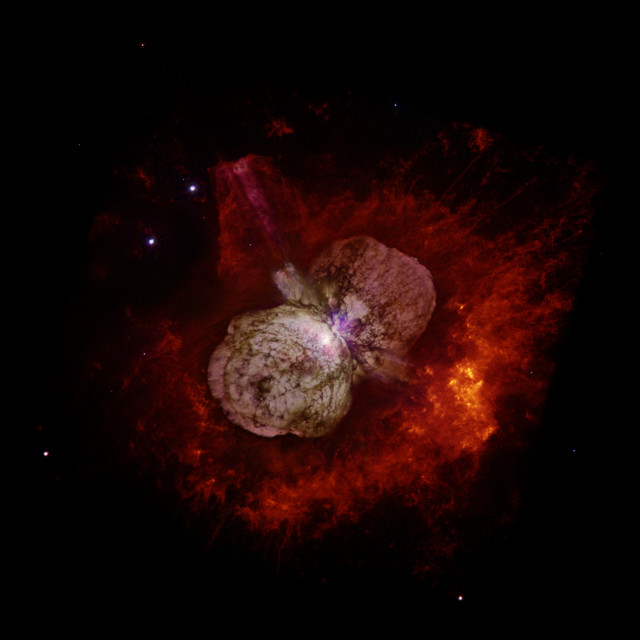 The Eta Carinae system (Image NASA, ESA, and the Hubble SM4 ERO Team)
