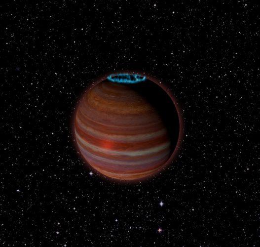 Artist's concept of SIMP J01365663+0933473 (Image Caltech/Chuck Carter; NRAO/AUI/NSF)