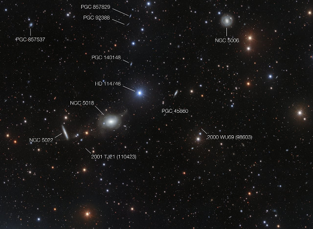 The sky around NGC 5018