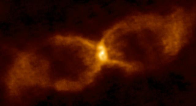 CK Vulpeculae seen by ALMA (Image ALMA (ESO/NAOJ/NRAO)/S. P. S. Eyres)