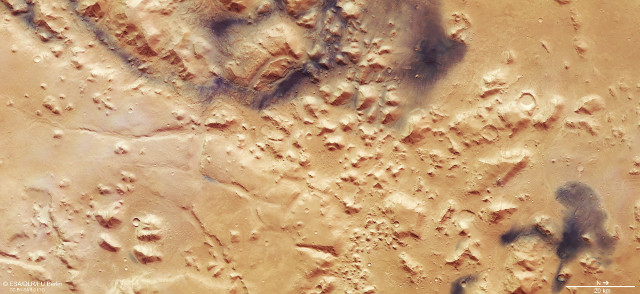 The Nili Fossae (Image ESA/DLR/FU Berlin, CC BY-SA 3.0 IGO)