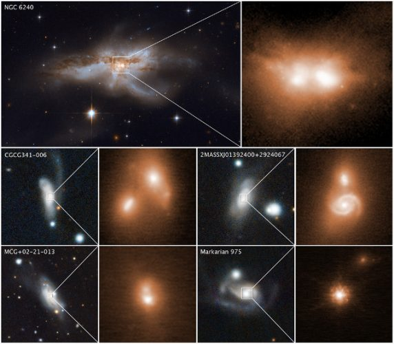 Galaxy mergers reveal pairs of supermassive black holes
