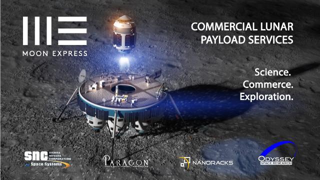 Artist's concept of Moon Express lander