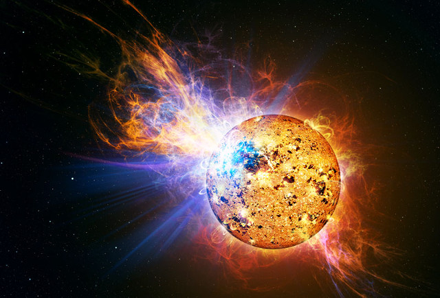 Artist's concept of a star with a violent flare (Image Casey Reed/NASA)