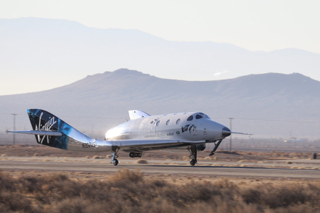 The VSS Unity spaceplane (Photo courtesy Virgin Galactic. All rights reserved)