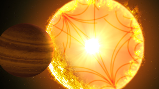Artistic concept of the Kepler-1658 system (Image courtesy Gabriel Perez Diaz/Instituto de Astrofísica de Canarias)