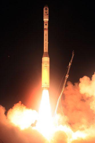 The OCO satellite blasting off atop a Taurus XL rocket (Photo NASA)