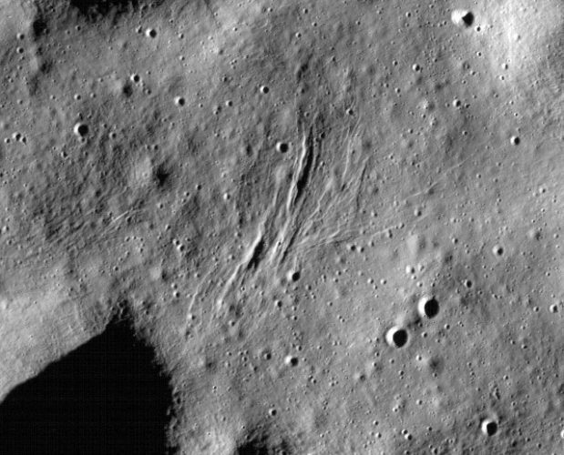 There may still be tectonic activity on the Moon