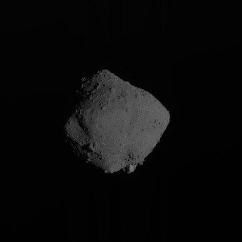 Asteroid Ryugu (Photo courtesy JAXA, Chiba Institute of Technology, University of Tokyo, Kochi University, Rikkyo University, Nagoya University, Meiji University, University of Aizu, AIST)