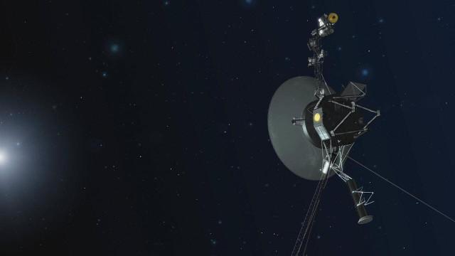 Artist's concept of a Voyager space probe (Image NASA/JPL-Caltech)