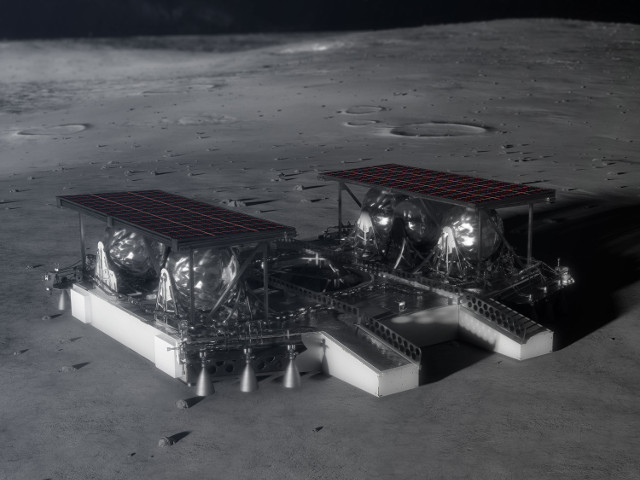 Artist's concept of lander on the Moon's surface (Image NASA)