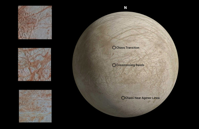 Europa seen by the Galileo space probe