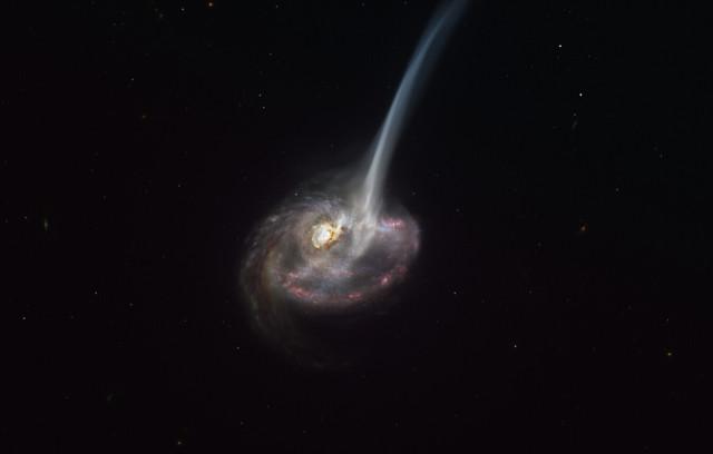 Artist's representation of the galaxy ID2299 (Image ESO/M. Kornmesser)