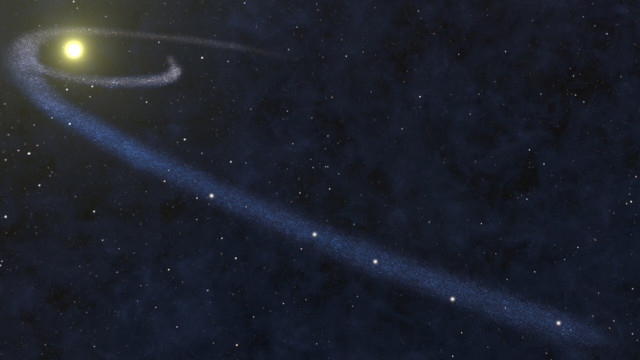 Artist's concept of a gas filament disrupted by a star