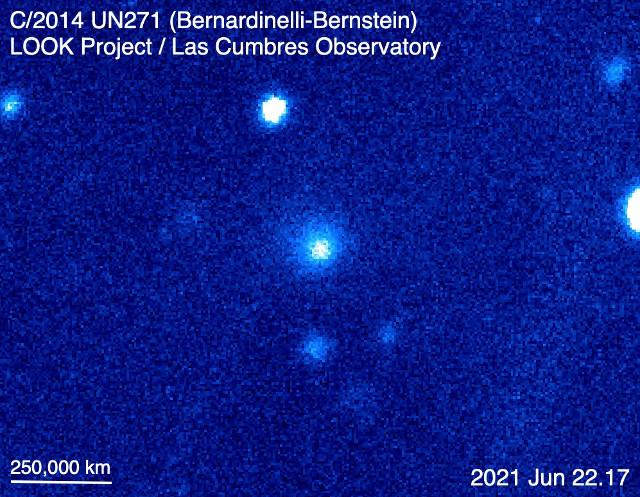 The giant comet C/2014 UN271 (Bernardinelli-Bernstein)