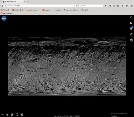 The Vesta Trek web application