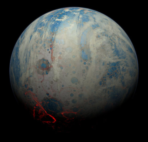 Artistic concept of the early Earth (Image courtesy Simone Marchi (SwRI). All rights reserved)