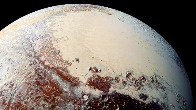 A part of Sputnik Planum seen by the New Horizons space probe (Photo NASA/Johns Hopkins University Applied Physics Laboratory/Southwest Research Institute)
