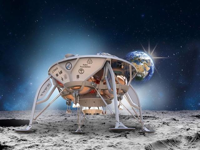 SpaceIL lander (Image courtesy SpaceIL)