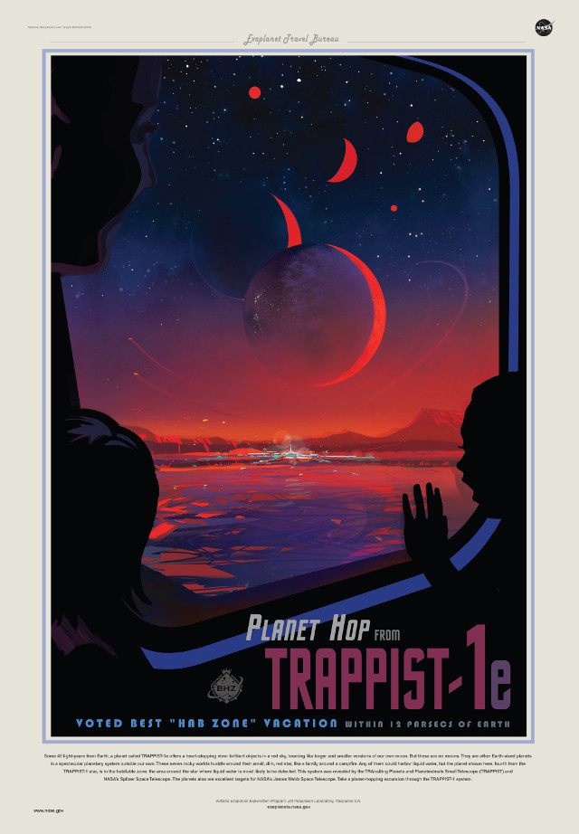 Artistic concept of the view from the TRAPPIST-1e planet (Image NASA/JPL-Caltech)