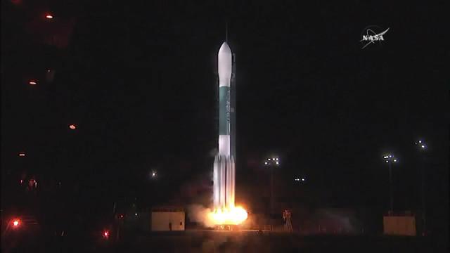The JPSS-1 satellite blasting off atop a Delta 2 rocket (Image NASA TV)