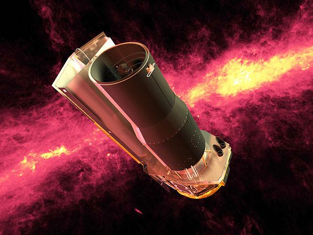 Spitzer Space Telescope rendering (Image NASA/JPL-Caltech)