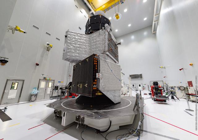 MMO atop MPO atop MTM (Photo ESA/CNES/Arianespace/Optique video du CSG – S. Martin)