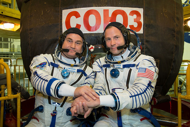 Alexey Ovchinin and Nick Hague (Photo NASA/Victor Zelentsov)