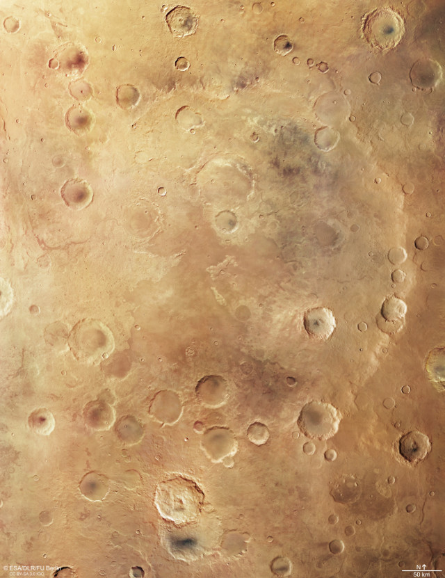 Greeley Crater (Image ESA/DLR/FU Berlin, CC BY-SA 3.0 IGO)
