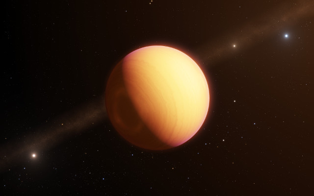 Artist's concept of the exoplanet HR 8799 e (Image ESO/L. Calçada)