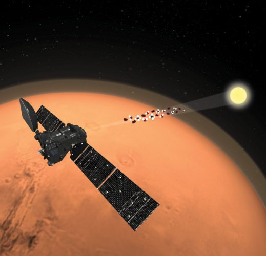 The Trace Gas Orbiter space probe detected water but not methane on Mars