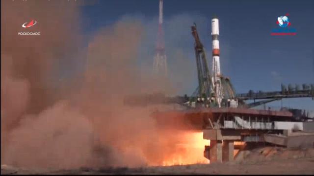 The Progress MS-11 cargo spacecraft blasting off atop a Soyuz 2.1a rocket (Image courtesy Roscosmos)