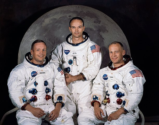 Neil Armstrong, Michael Collins and Edwin