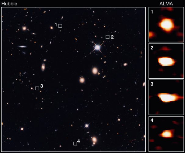 39 ancestors of massive elliptical galaxies discovered in the early universe