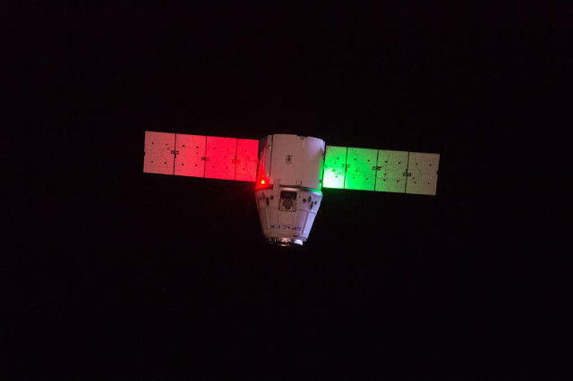 The Dragon cargo spacecraft departing the International Space Station to complete its CRS-18 mission (Image NASA)
