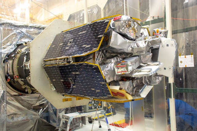 The ICON satellite being prepared (Photo NASA/Randy Beaudoin)