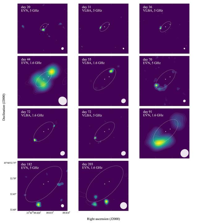 The symbiotic nova V407 Cygni seen by EVN