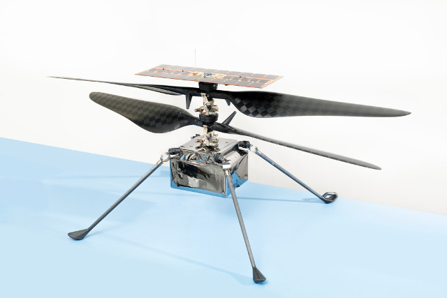 The Mars Helicopter Ingenuity (Photo NASA/JPL-Caltech)