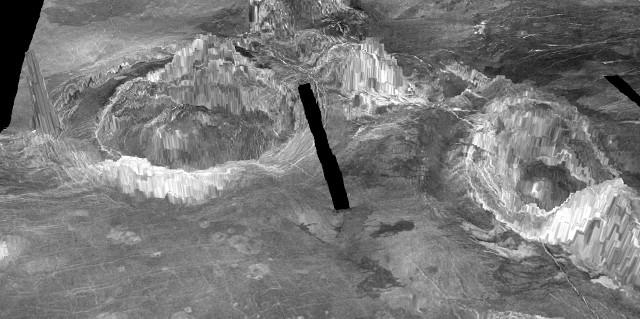 3D rendition of coronae on Venus (Image courtesy Laurent Montési / University of Maryland)