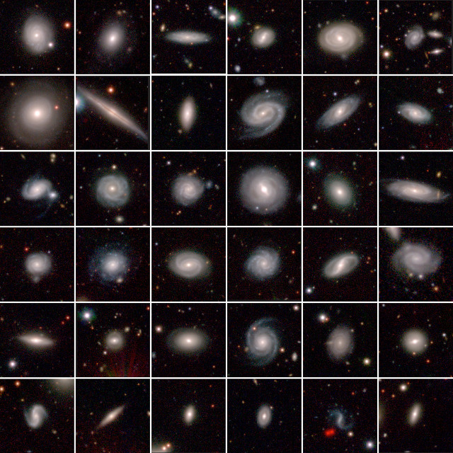 Some of the galaxies observed in the GAMA project