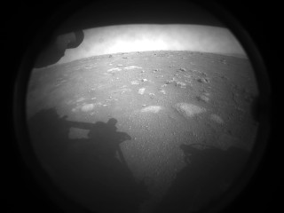 The first image of Mars captured by the Mars Rover Perseverance (Photo NASA/JPL-Caltech)