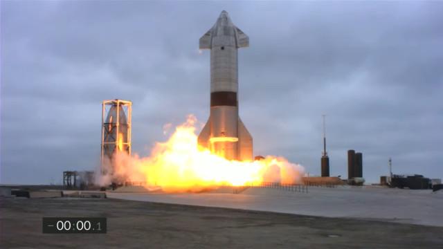 The Starship SN15 prototype blasting off (Image courtesy SpaceX)