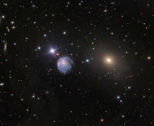 The galaxies NGC 2276 and NGC 2300 (Image Adam Block/Mount Lemmon SkyCenter/University of Arizona)