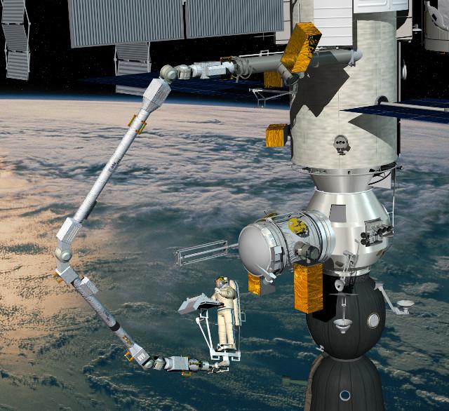 ERA attached to Nauka/MLM (Image ESA - D.Ducros)