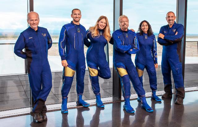 The VSS Unity spaceplane's crew (Photo courtesy Virgin Galactic)
