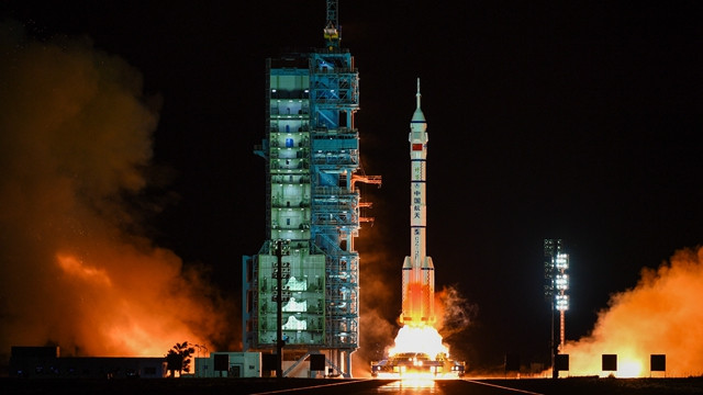 The launch of the Shenzhou 13 mission (Photo courtesy Xinhua)